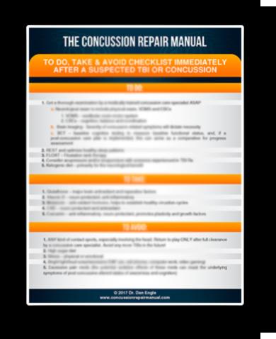 Concussion Repair checklist